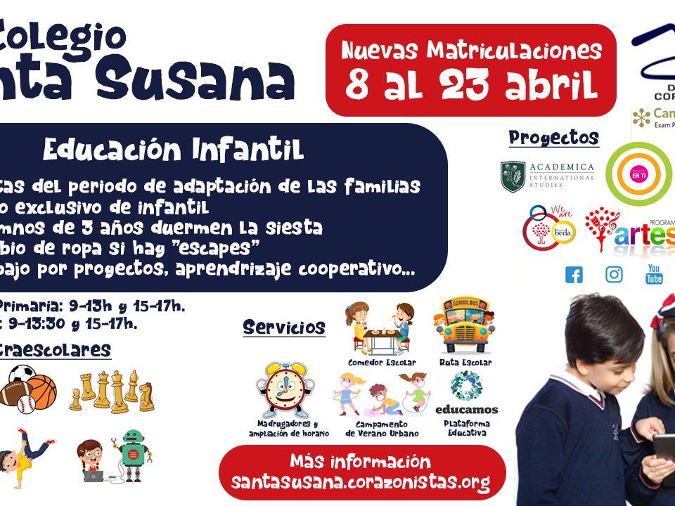 Nuevas Matriculaciones Santa Susana