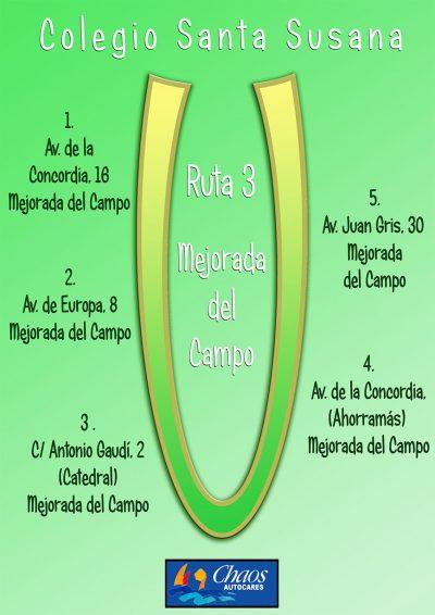 Ruta Escolar Mejorada del Campo Santa Susana